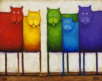 Rainbow Cats Fine-Art Print