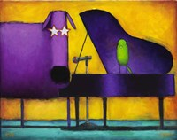 Piano Glam Dog Fine-Art Print