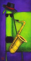 Sax Dog Fine-Art Print