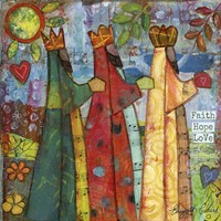 Three Kings Love Faith Hope Fine-Art Print
