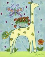 Butterfly Giraffe Fine-Art Print