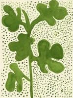 Green Leaf with Dots 1 Fine-Art Print