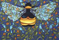 Bee And Blue Birds Fine-Art Print