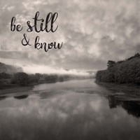 Be Still & Know Sepia Fine-Art Print