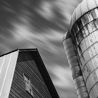 Barn and Silo Fine-Art Print