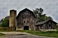 The Old Barn and Silo Fine-Art Print