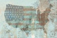 Vintage USA Map Fine-Art Print