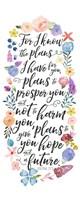 Floral Bible Verse Panel I Fine-Art Print