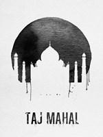 Taj Mahal Landmark White Fine-Art Print