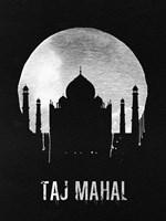 Taj Mahal Landmark Black Fine-Art Print