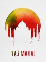 Taj Mahal Landmark Red Fine-Art Print