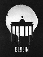 Berlin Landmark Black Fine-Art Print