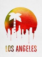 Los Angeles Landmark Red Fine-Art Print