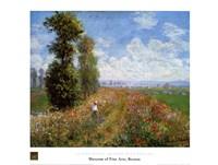 Meadow with Poplars Fine-Art Print