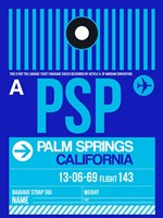 PSP Palm Springs Luggage Tag II Fine-Art Print