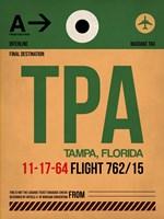 TPA Tampa Luggage Tag I Fine-Art Print