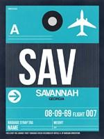 SAV Savannah Luggage Tag II Fine-Art Print