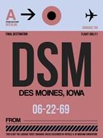DSM Des Moines Luggage Tag I Fine-Art Print
