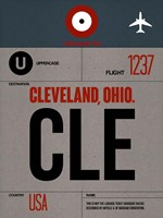 CLE Cleveland Luggage Tag I Fine-Art Print