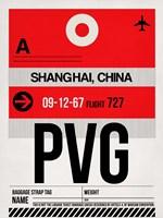 PVG Shanghai Luggage Tag I Fine-Art Print