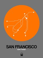 San Francisco Orange Subway Map Fine-Art Print