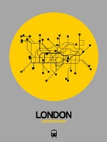London Yellow Subway Map Fine-Art Print