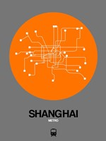 Shanghai Orange Subway Map Fine-Art Print
