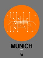 Munich Orange Subway Map Fine-Art Print