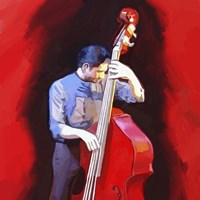 Bass Player Fine-Art Print