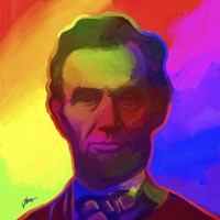 Pop Art Abe Lincoln Fine-Art Print