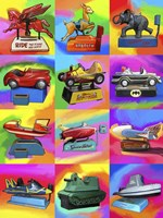 Pop Art Kiddie Rides Fine-Art Print