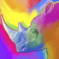 Rhino Pop Art Fine-Art Print