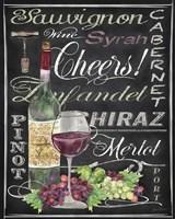 Cheers Wine Art - Black Fine-Art Print