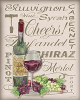 Cheers Wine Art - White Fine-Art Print