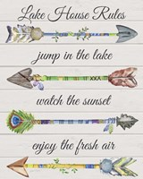 Sentimental Arrows-Lake House Rules Fine-Art Print