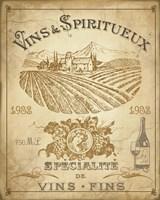 Vintage French Wine Label Fine-Art Print