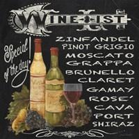Wine List Chalkboard Fine-Art Print