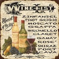 Wine List Vintage Fine-Art Print