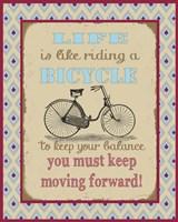 Life Bicycle Message 1 Fine-Art Print