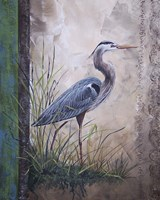 In The Reeds - Blue Heron Fine-Art Print
