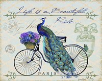 Peacock On Bicylce II Fine-Art Print