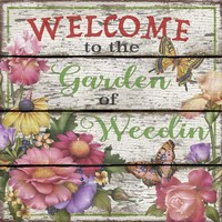 Country Garden Sign - E Fine-Art Print