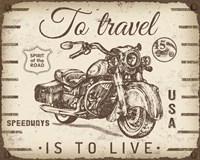 Vintage Motorcycle Mancave - A Fine-Art Print