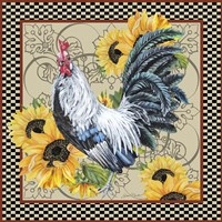 Country Time Rooster - C Fine-Art Print