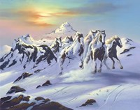 Horses In The Snow Fine-Art Print