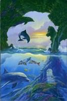 Seven Dolphins Fine-Art Print