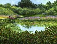 Monets Boat Fine-Art Print