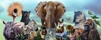 Animal Collage 4 Fine-Art Print