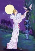 Pierrot And Doves Fine-Art Print