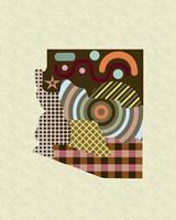Arizona State Map Fine-Art Print
